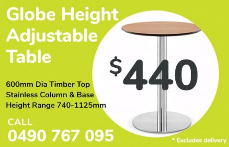 Height adjustable table - $440